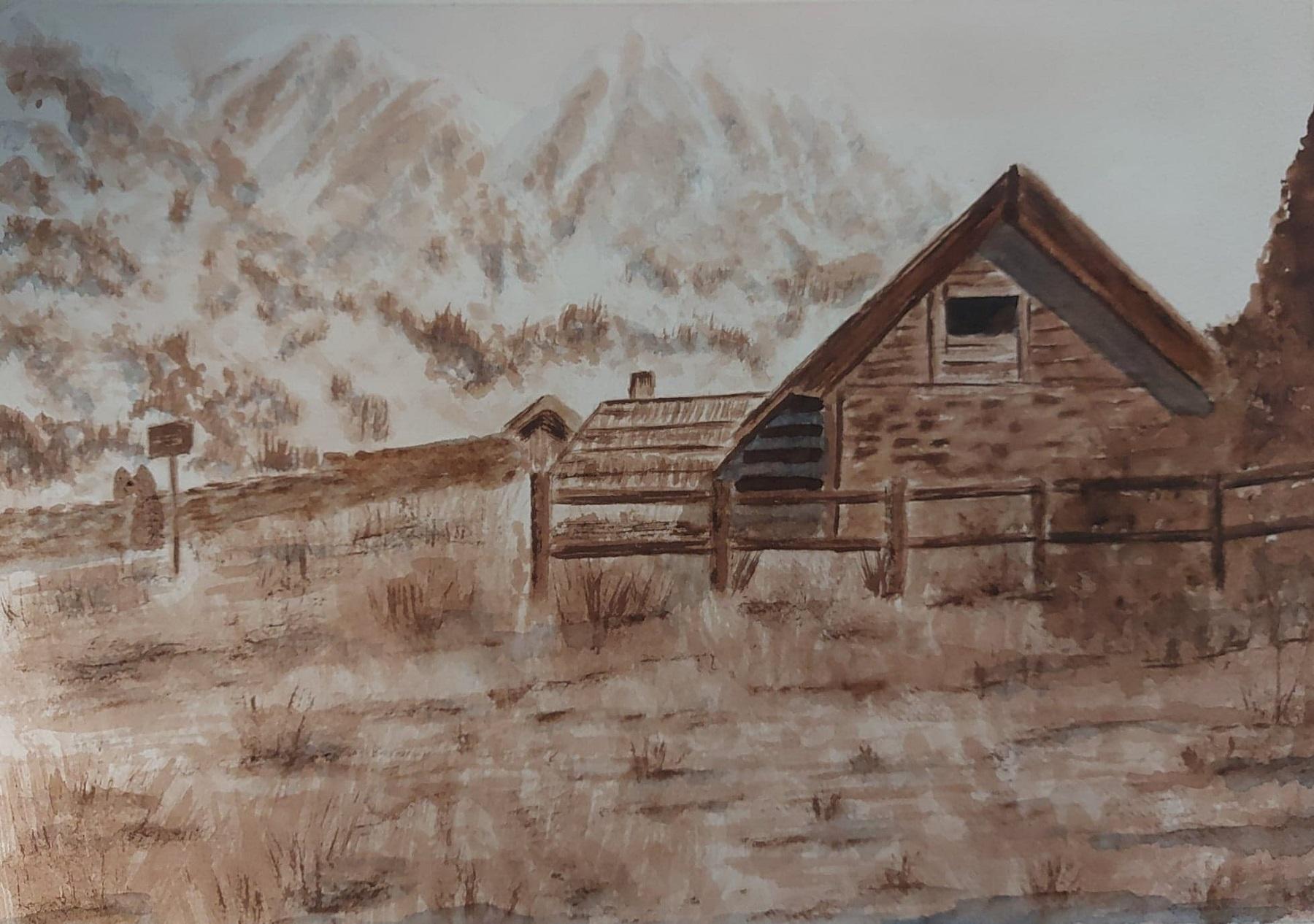 Maison en bois - aquarelle 2021